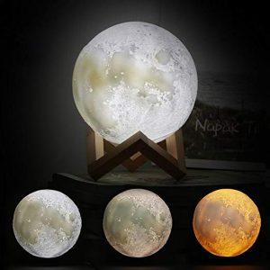 lampada luna in 3d