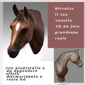 ritratto cavallo 3D