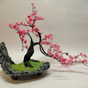 Bonsai pesco sintetico