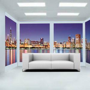 Paesaggio effetto vetrata