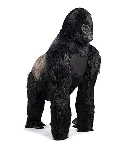 Peluche gorilla maschio realistico