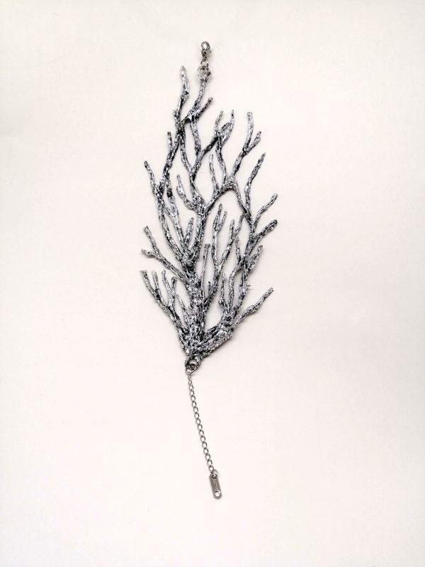 Bracciale corallo Silver