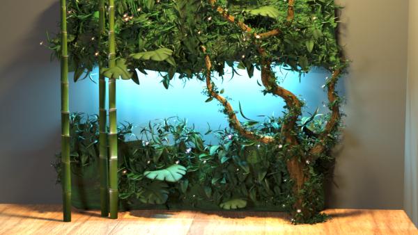 Pannello parete vegetale sintetico...