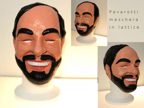 Maschera Pavarotti in lattice