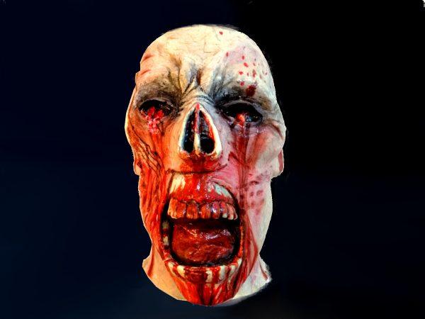 Maschera zombi in lattice