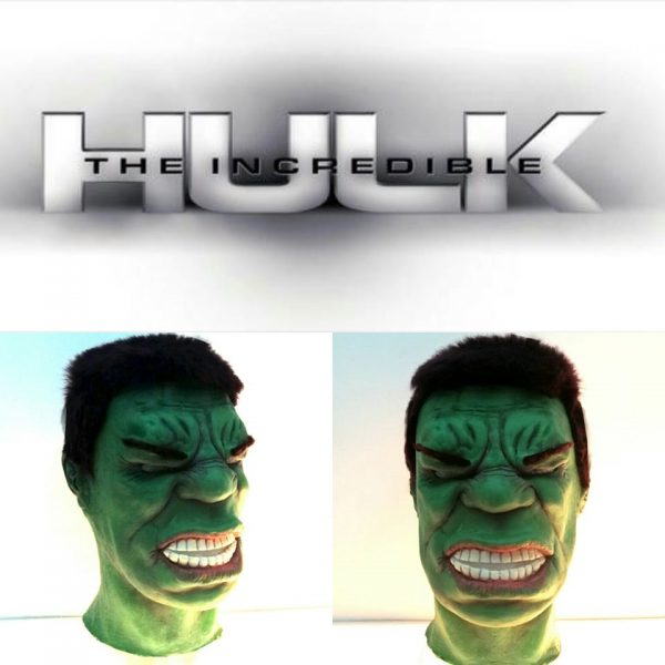 Maschera Hulk su misura...
