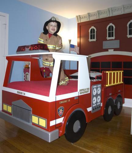 letto camion pompieri americano