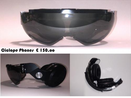 1 ciclope fonocchiale da sole con cuffia incorporata wifi